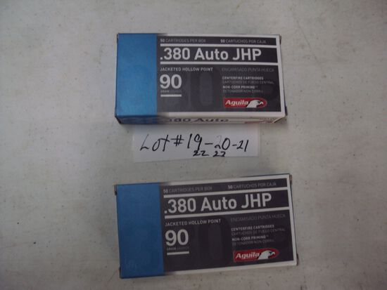 2 BOXES 380 HP AMMO (100 RDS)
