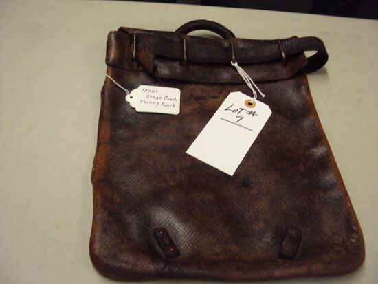 1800'S STAGE COACH MONEY POUCH