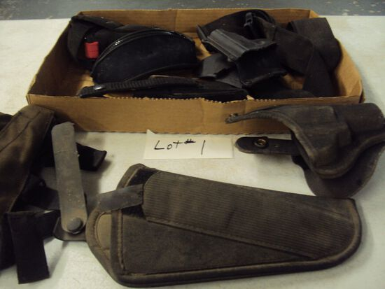 TRAY LOT OF USED HOLSTERS