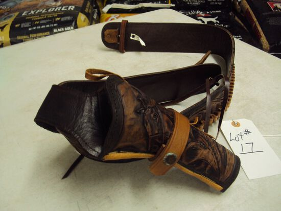 LEUTHER COWBOY STYLE HOLSTER FOR SA22 REVOLVER