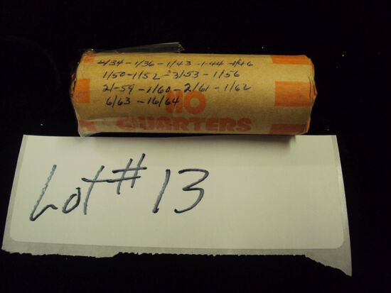 $10 IN WASHINGTON QUARTERS, PRE 1964