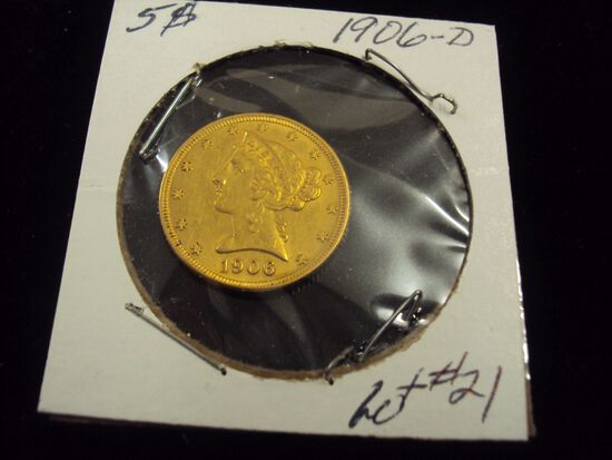 1906-D $5 GOLD EAGLE