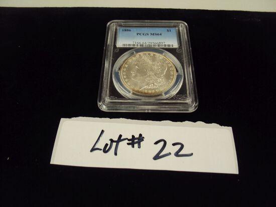 1886 MORGAN SILVER DOLLAR - MS64