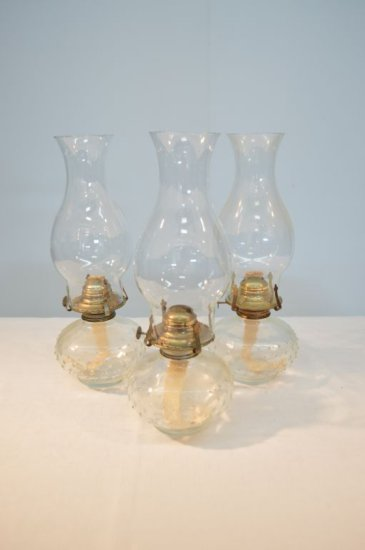Set of Three Matching Oil Lamps