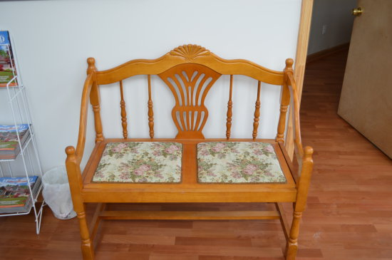 Wooden Bench settee
