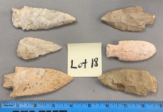 Lot of blades & arrowheads