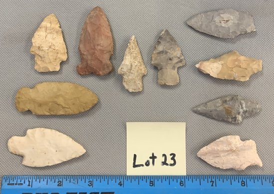 Lot of arrowheads