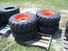 7-01116 (Equip.-Loader- skid steer)  Seller:Private/Dealer (4) 12-16.5 SKID STEER LOADER TIRES AND