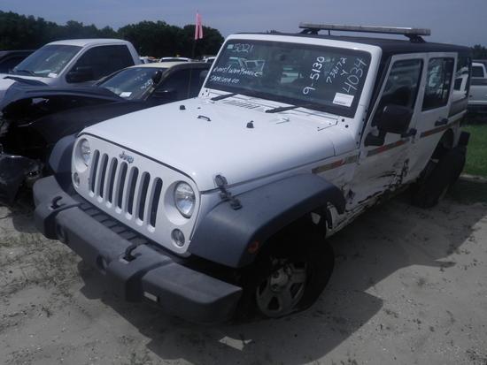9-05130 (Cars-SUV 4D)  Seller: Gov/Sarasota County Commissioners 2015 JEEP WRANGLER