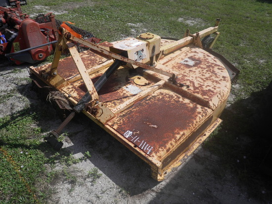 11-01114 (Equip.-Mower)  Seller: Florida State F.W.C. ALAMO 3PT HITCH PTO 6 FOOT ROTARY MOWER