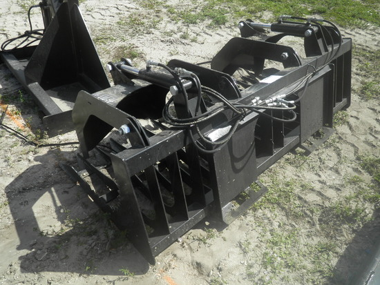 11-01164 (Equip.-Implement- misc.)  Seller:Private/Dealer 75 INCH SKID STEER LOADER ROCK & BRUSH
