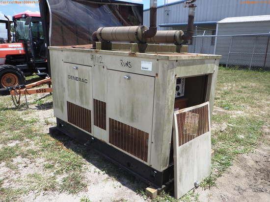 7-01112 (Equip.-Generator)  Seller:Private/Dealer GENERAC 93A 01532S 30KW L.P.G.