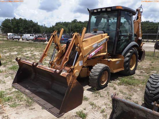 7-01156 (Equip.-Backhoe)  Seller:Private/Dealer CASE 580M ENCLOSED CAB TRACTOR L