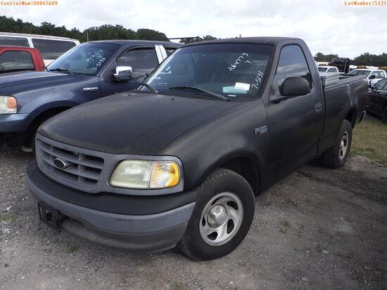 7-05131 (Trucks-Pickup 2D)  Seller: Gov-City of Bradenton 2002 FORD F150