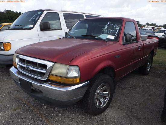 7-05133 (Trucks-Pickup 2D)  Seller: Florida State A.C.S. 2000 FORD RANGER