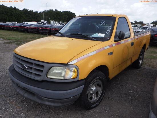 7-05136 (Trucks-Pickup 2D)  Seller: Florida State D.O.T. 2002 FORD F150
