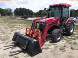 8-01188 (Equip.-Tractor)  Seller:Private/Dealer MAHINDRA 4X4 2555HST ENCLOSED CA
