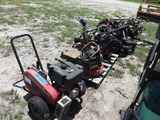 8-02134 (Equip.-Turf)  Seller:Private/Dealer LOT OF WEED EATERS- BLOWERS & PRESS