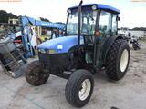 8-01554 (Equip.-Tractor)  Seller: Gov-City of Oldsmar NEW HOLLAND TN70D ENCLOSED