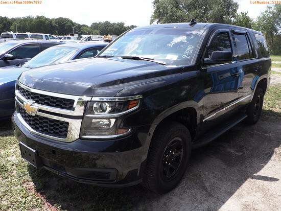 8-05110 (Cars-SUV 4D)  Seller: Florida State C.V.E. F.H.P. 2018 CHEV TAHOE