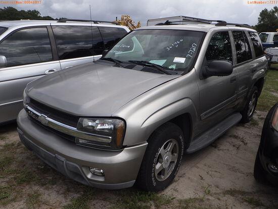 8-07124 (Cars-SUV 4D)  Seller:Private/Dealer 2002 CHEV TRAILBLAZ