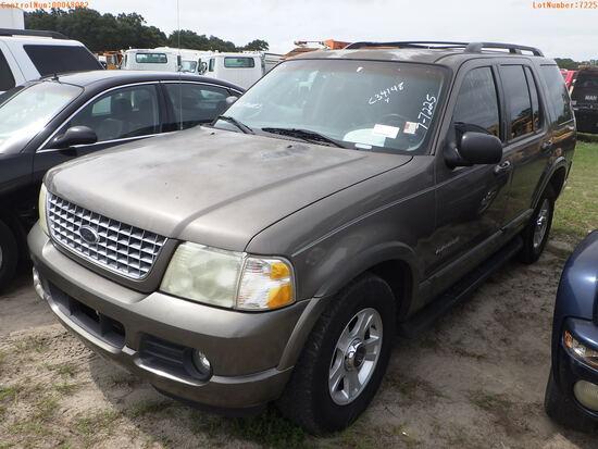 8-07121 (Cars-SUV 4D)  Seller:Private/Dealer 2002 FORD EXPLORER