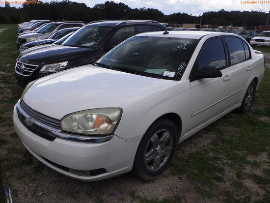 8-07110 (Cars-Sedan 4D)  Seller:Private/Dealer 2005 CHEV MALIBU