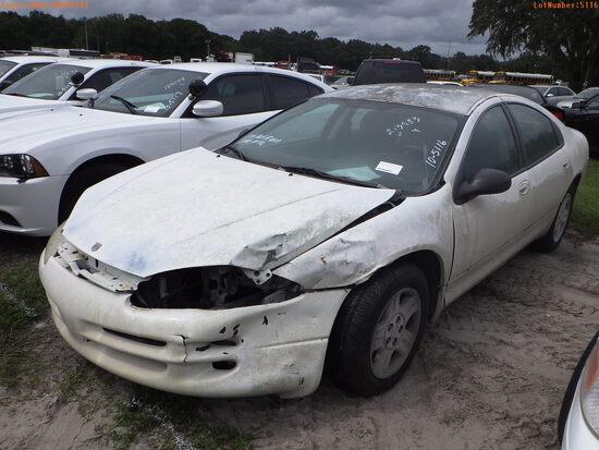 10-05116 (Cars-Sedan 4D)  Seller: Florida State D.J.J. 2002 DODG STRATUS