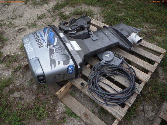 11-02112 (Equip.-Boat engine)  Seller:Private/Dealer NISSAN 50HP OUTBOARD BOAT E