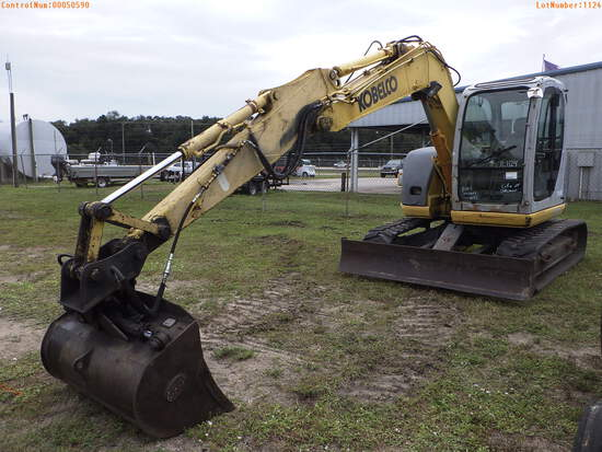 11-01124 (Equip.-Excavator)  Seller: Gov-City of Oldsmar KOBELCO SK70SR-1E RUBBE