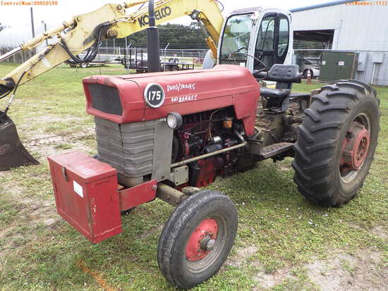 11-01122 (Equip.-Tractor)  Seller:Private/Dealer MASSEY FERGUSON 175 DIESEL TRAC