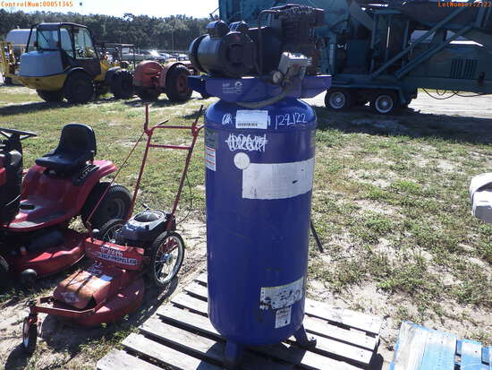 12-02122 (Equip.-Air comp.)  Seller:Private/Dealer CAMPBELL 60 GALLON 1HP 125PSI