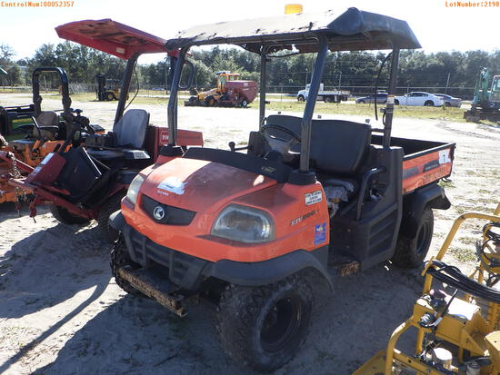 2-52357 (Equip.-Utility vehicle)  Seller:Private/Dealer 2013 KUBO RTV900