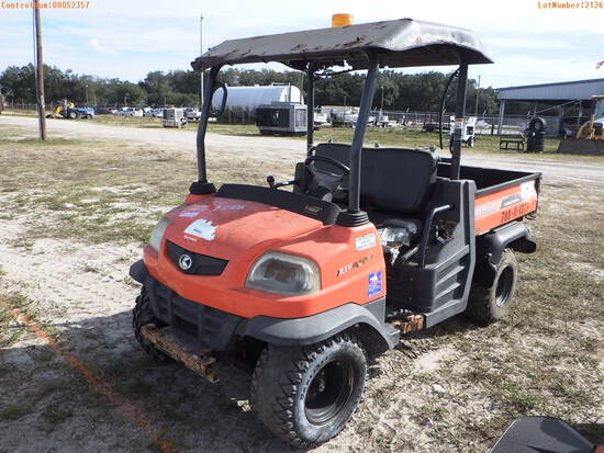 2-02126 (Equip.-Utility vehicle)  Seller:Private/Dealer 2013 KUBO RTV900
