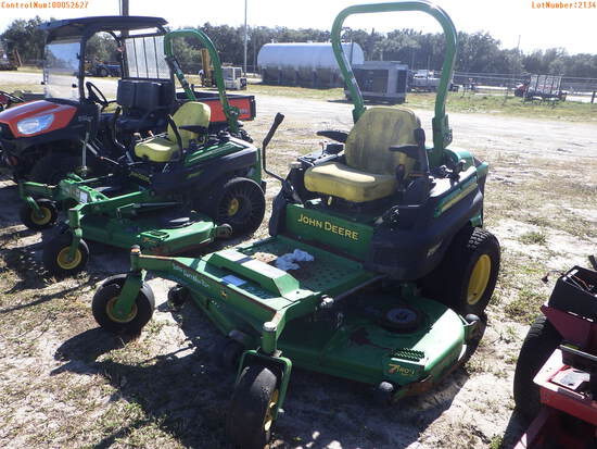 2-02134 (Equip.-Mower)  Seller: Gov-Pinellas County BOCC JOHN DEERE Z997R 72 INC
