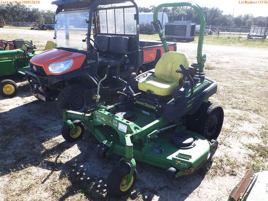 2-02136 (Equip.-Mower)  Seller: Gov-Pinellas County BOCC JOHN DEERE Z960M72 72 I