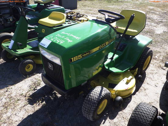 2-02144 (Equip.-Mower)  Seller:Private/Dealer JOHN DEERE 185 RIING MOWER- DECK I