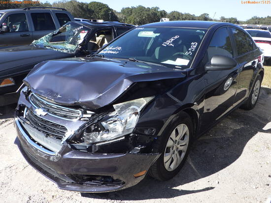 2-05125 (Cars-Sedan 4D)  Seller: Florida State B.P.R. 2015 CHEV CRUZE