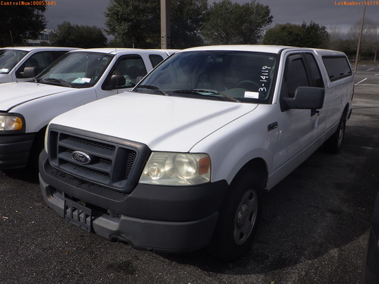 3-14119 (Trucks-Pickup 2D)  Seller: Florida State A.C.S. 2005 FORD F150
