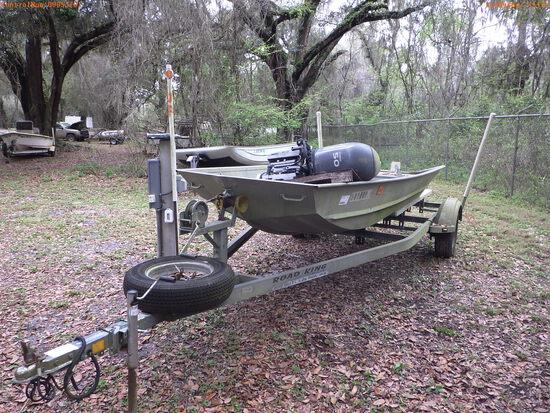 3-15115 (Vessels-Jon boat)  Seller: Florida State F.W.C. 1986 MONA 14FT