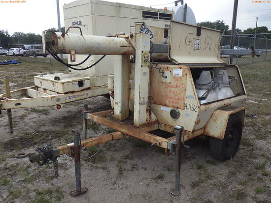 4-01152 (Equip.-Light tower)  Seller: Gov-Manatee County 1993 AMID LT7000