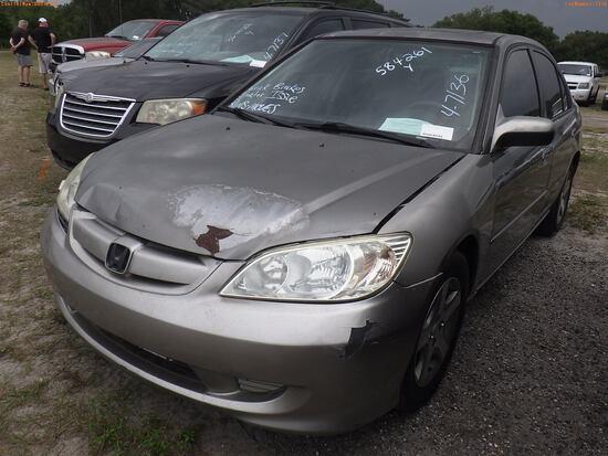 4-07136 (Cars-Sedan 4D)  Seller:Private/Dealer 2004 HOND CIVIC