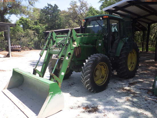 5-19111 (Equip.-Tractor)  Seller: Florida State F.W.C. JOHN DEERE 6420 TRACTOR L