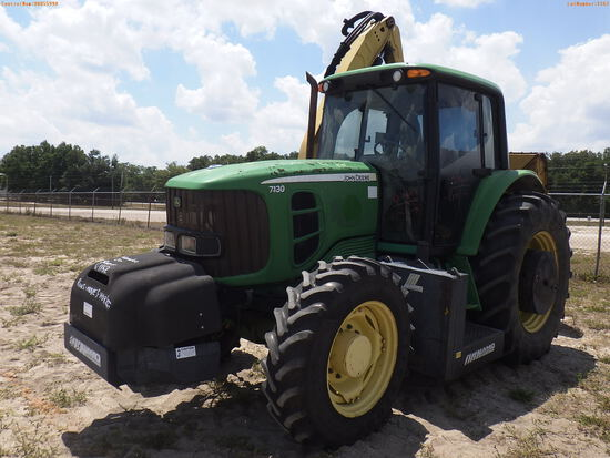 6-01162 (Equip.-Tractor)  Seller: Gov-Manatee County JOHN DEERE 7130 TRACTOR WIT