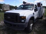 6-08225 (Trucks-Crane)  Seller: Gov-City Of Dunedin 2008 FORD F550