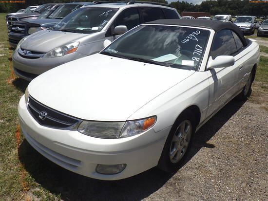 8-07117 (Cars-Convertible)  Seller:Private/Dealer 2001 TOYT SOLARA