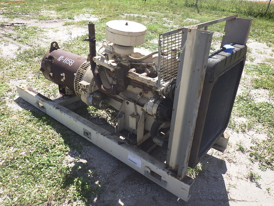 10-01158 (Equip.-Generator)  Seller:Private/Dealer SKID MOUNTED GAS POWERED GENE