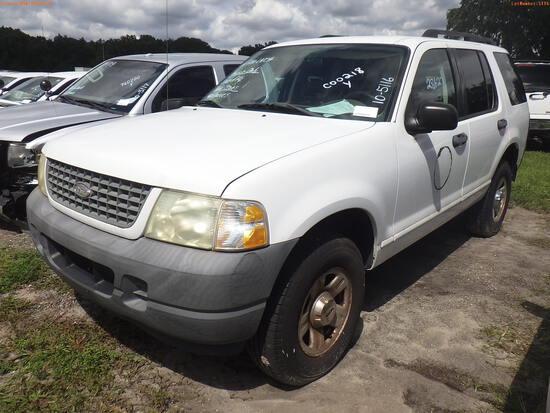 10-05116 (Cars-SUV 4D)  Seller: Florida State D.O.T. 2003 FORD EXPLORER