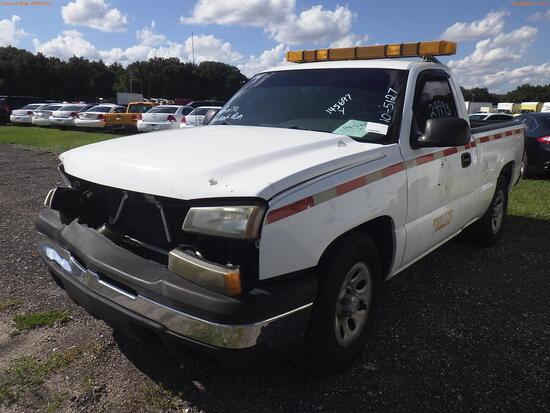 10-05127 (Trucks-Pickup 2D)  Seller: Florida State D.O.T. 2007 CHEV 1500