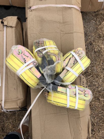 2in x 27in Ratchet Straps, Bundle of 4